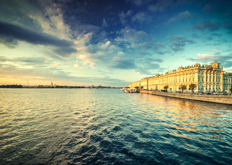 The Hermitage, view from the Neva river