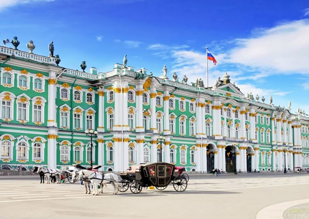 The Hermitage museum in Saint-Petersburg, Russia